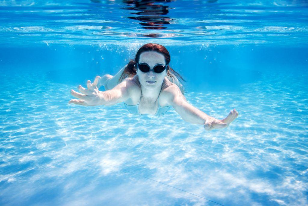svømmebriller med styrke 1